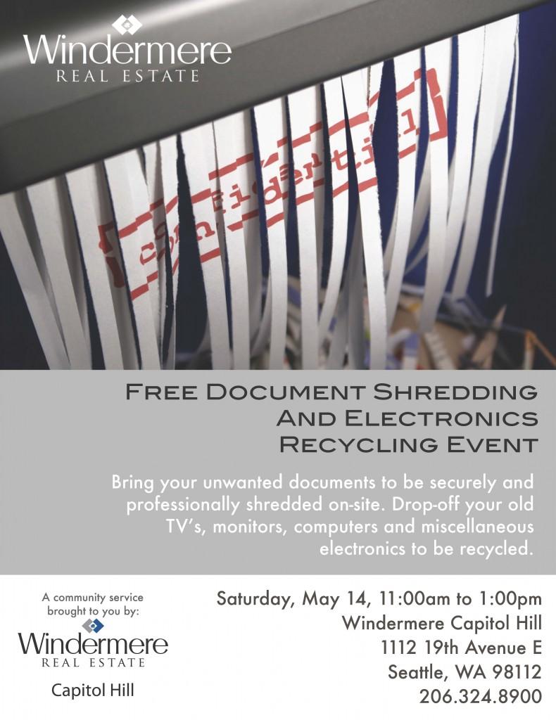 Windermere Shredding Poster May 2016